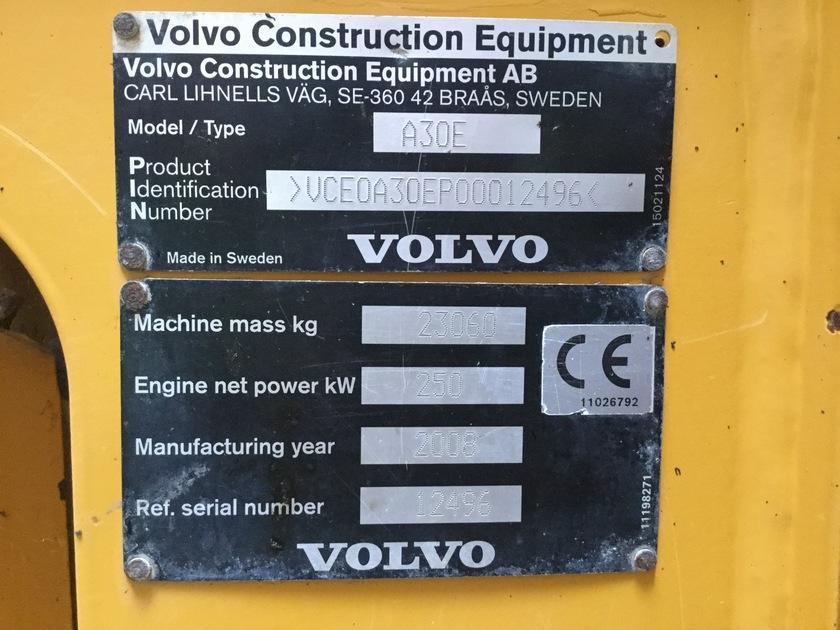2008 Volvo A30E